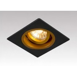 LAMPA WPUSZCZANA CHUCK DL SQUARE BLACK-GOLD 92706 Zuma Line