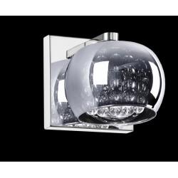 LAMPA ŚCIENNA, kinkiet, kinkiety, CRYSTAL, W0076-01A-B5FZ, Zuma Line, zumaline, kinkiet szklany, lampy ścienne, oświetlenie, lam