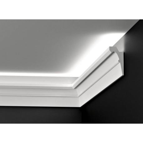 DWPO 01, Styropianowa listwa oświetleniowa, gzyms owietleniowy, gzyms oświetleniowy LED, sztukateria wewnętrzna, dekorplanet
