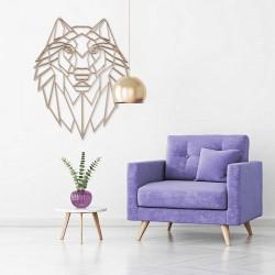 Wilk, Drewniany wilk, drewniana dekoracja ścienna, drewniana ozdoba ścienna, Dekorplanet