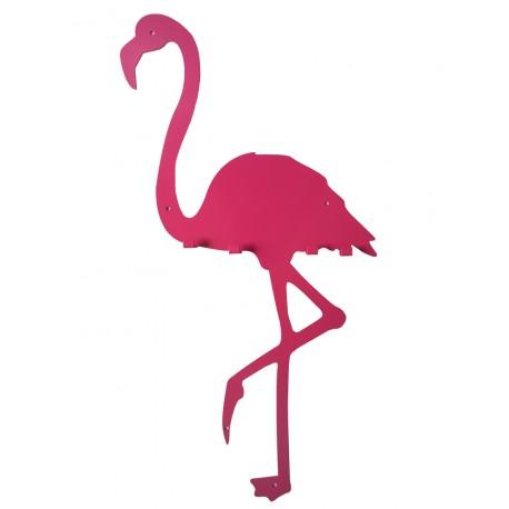 Dekoracyjny wieszak z metalu na ścianę FLAMING ozdobny wieszak ścienny flamingi różowy Floxxy Dekorplanet