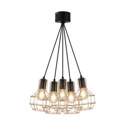 Lampa wisząca GIULIO P12105-L-5 Zuma Line, nowoczesna, duża dekorplanet, druciana,