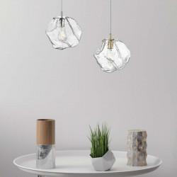 P0488-01A-F4AC ROCK LAMPA WISZĄCA, LAMPA WISZĄCA ZUMALINE, ZWIZ ZUMALINE, SZKLANA LAMPA WISZĄCA, LAMPA ZE ZŁOTYM, DEKORPLANET