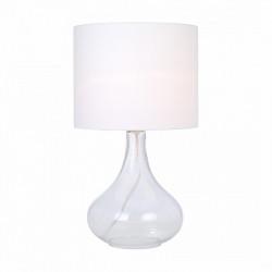 CERI ZUMA LINE, RLT93174-1W ZUMA LINE, BIAŁA LAMPA STOŁOWA, BIAŁA LAMPKA NOCNA, SZKLANA LAMPA STOŁOWA, LAMPKI STOŁOWE ZUMA LINE,