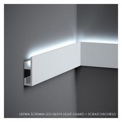 LISTWA ŚCIENNA LED, QL019 MARDOM DECOR, LIGHT GUARD + SCRATCHSHIELD, LISTWA ŚCIENNA LED, LISTWY ŚCIENNE MARDOM, LEDOWE LISTWY ŚC