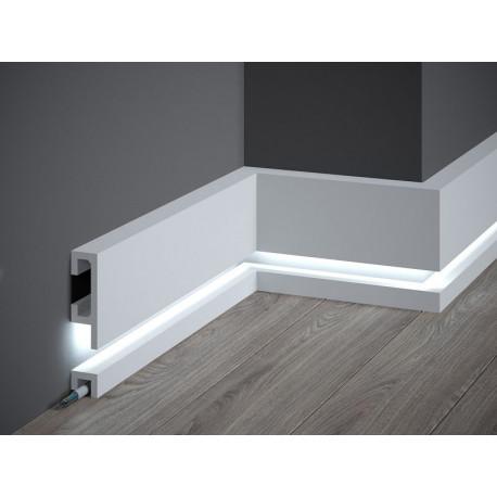 LISTWA LED QL019 + QL021 MARDOM DECOR, LISTWA PRZYPODŁOGOWA LED, LISTWY LED MARDOM, LISTWY PRZYPODŁOGOWE LED