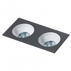 Lampa HUGO 2 Downlight bez wkładu GM2203 Downlight black / alumini Azzardo