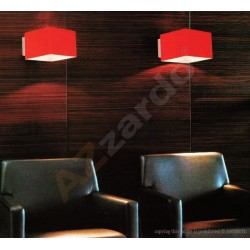 Lampa TULIP wall MB 328-1 red glass/chrome Azzardo
