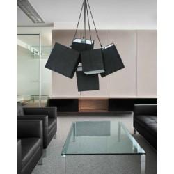 Lampa TORA pendant PL-11093 black metal/fabric Azzardo